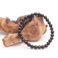 Golden Sheen Obsidian 6mm Bead Bracelet